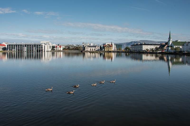 Reykjavík City Center and the City hall