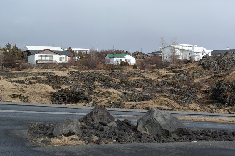 One of the striking characteristics in Hafnarfjörður is the harmony between lava and houses