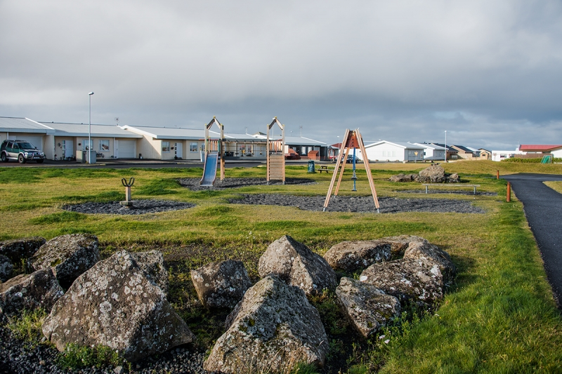 Playground in Garður village in Iceland