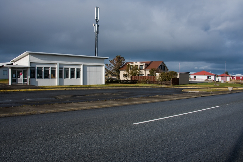 The old telecommunication building in Gaður Reykjanes Peninsula