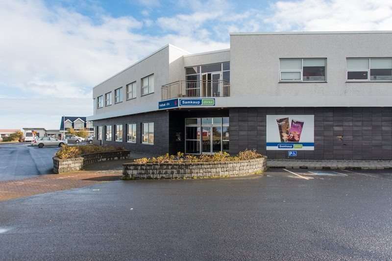 New commercial building in Garður village Iceland