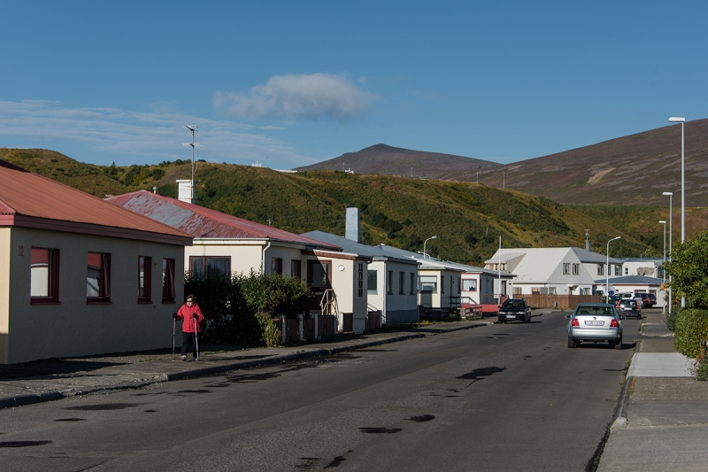 Stree in the town of Sauðárkrókkur