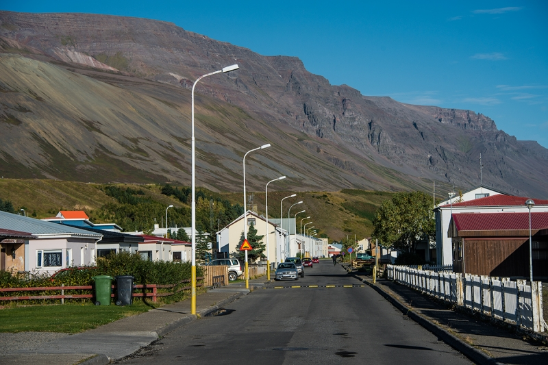 Stree in the town small town of Sauðárkrókkur