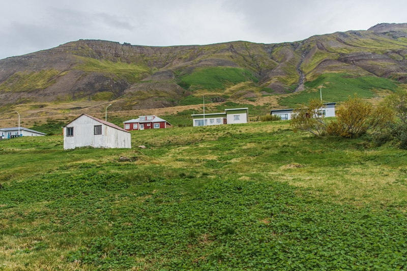 Siglufjörður is built under a steem mountain slope
