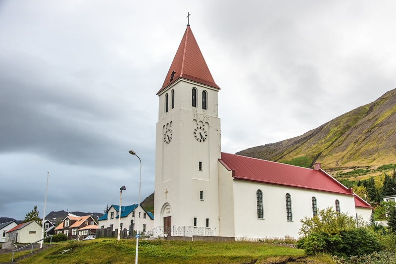 The church in Siglufjörur was built in 1932