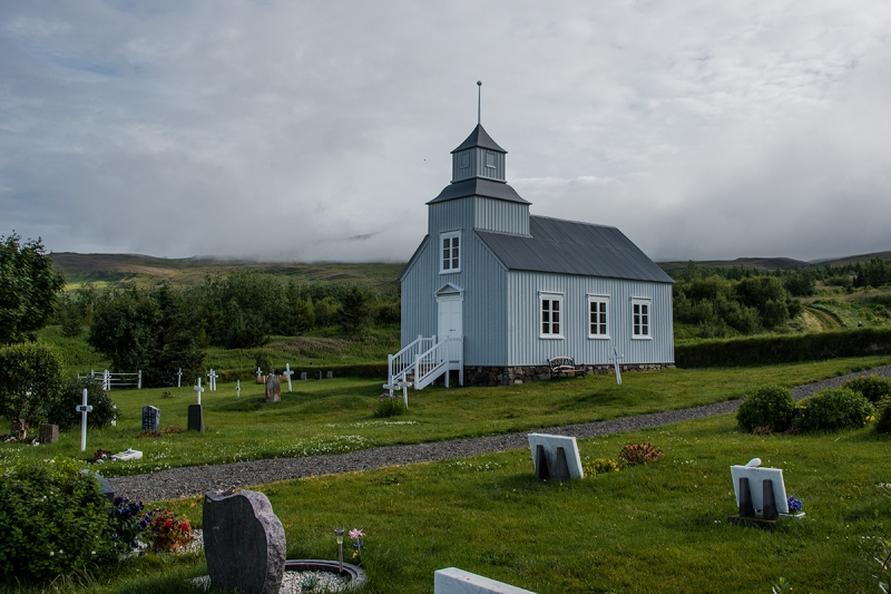 The old church is located by the Camp Site and is in care of the National Museum
