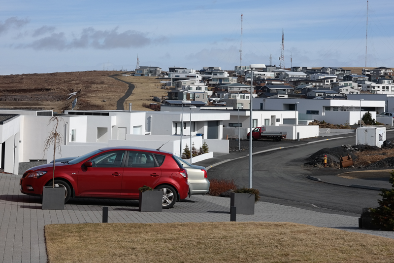 Some of the new houses in Kópavogur are quite spectacular