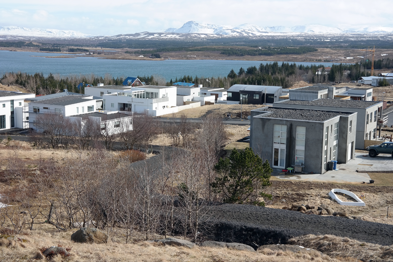 A beautiful new neighborhood by the lake Elliðavatn