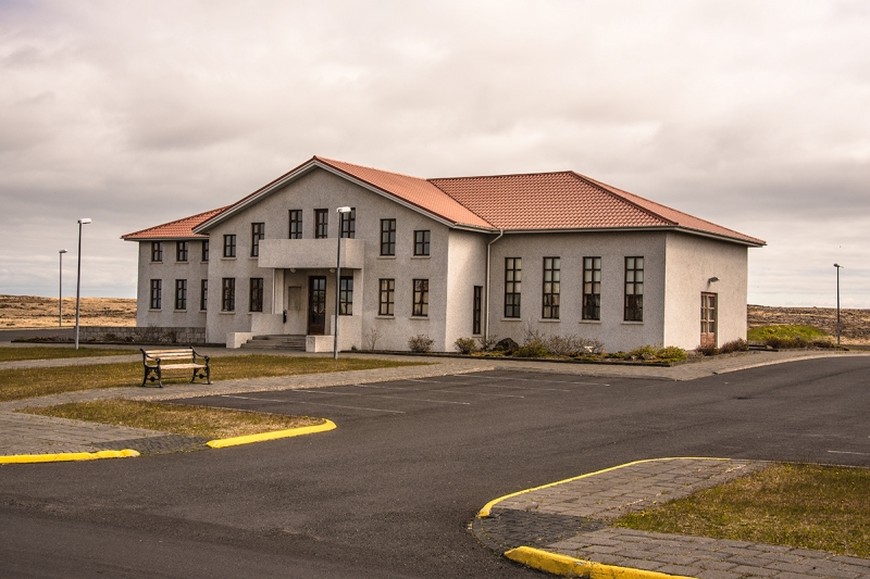 The old community center in Sandgerði at Reykjanes Peninsula