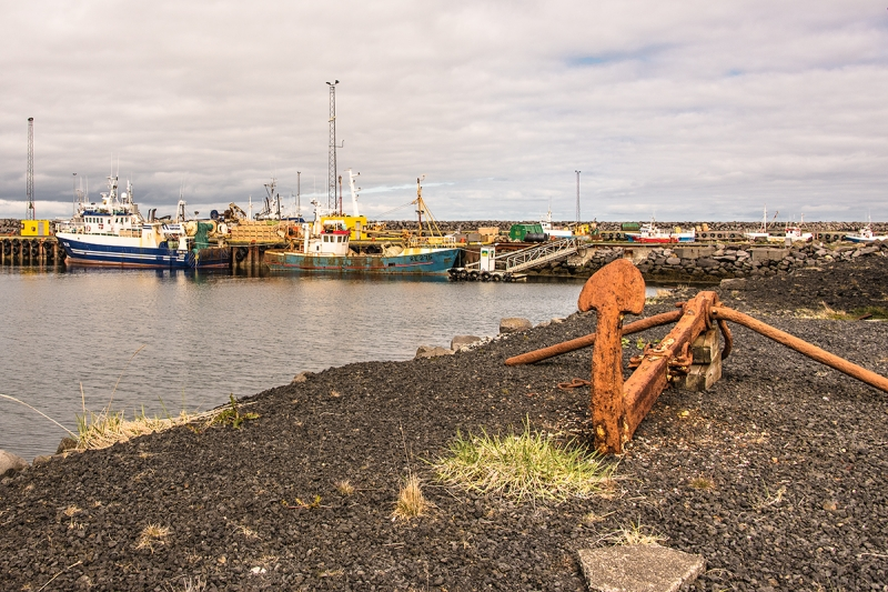 Many boats have their home base in Sangerði