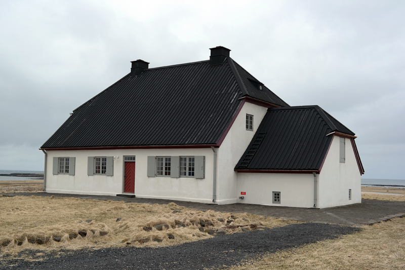 One of the oldest houses in Iceland from 1765 is at Seltjarnarnes