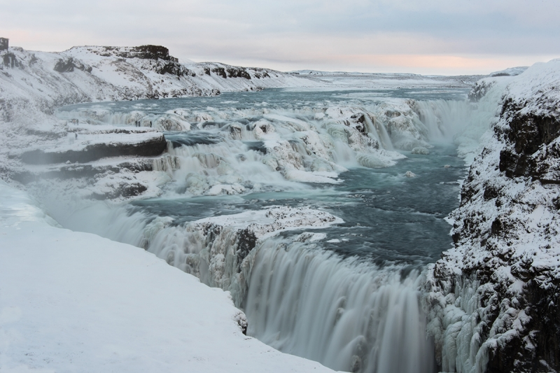 Gullfoss Waterfall In Iceland Hit Iceland