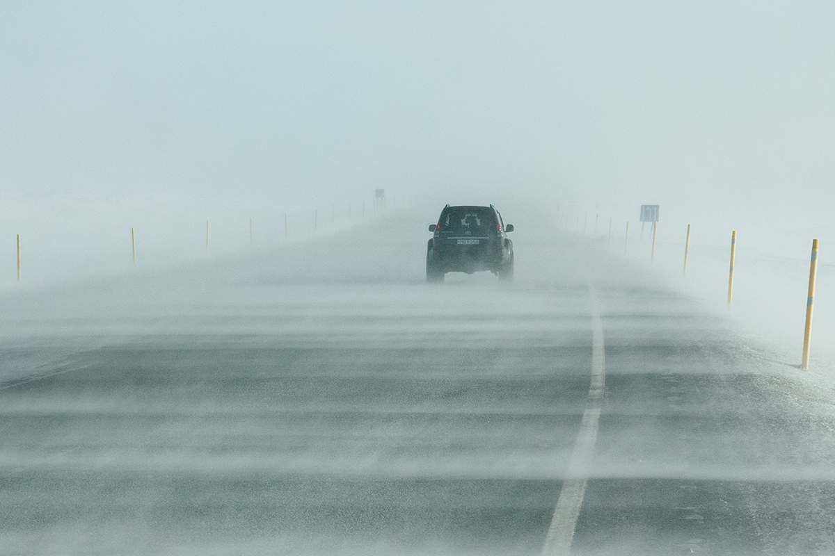 Driving in winter in Iceland is often quite difficult