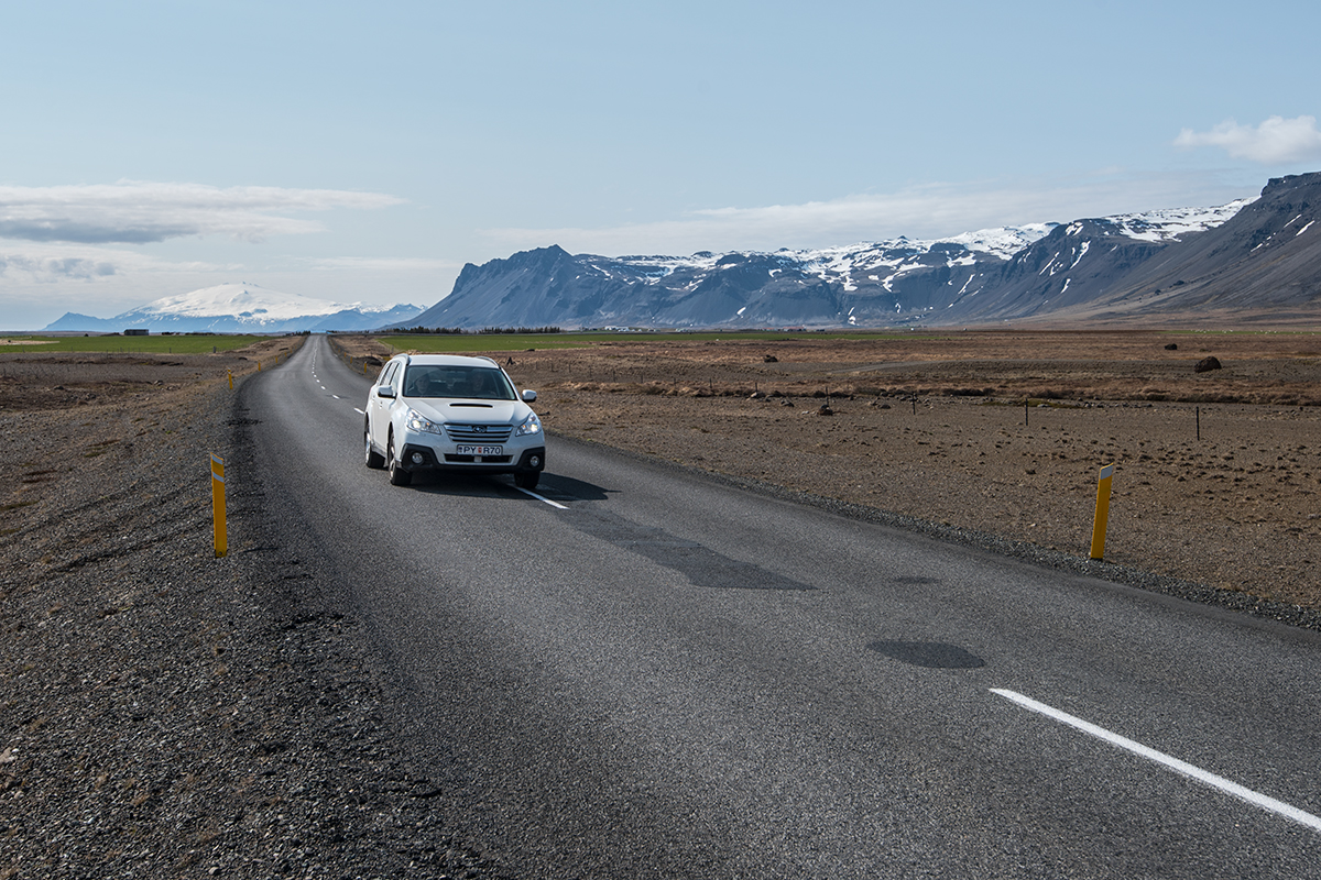 Road in Iceland at Snæfellsnes Peninsula
