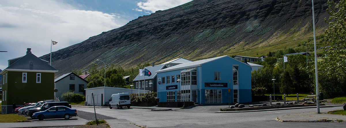 Accommodation hotel at Þingeyri Westfjords Iceland