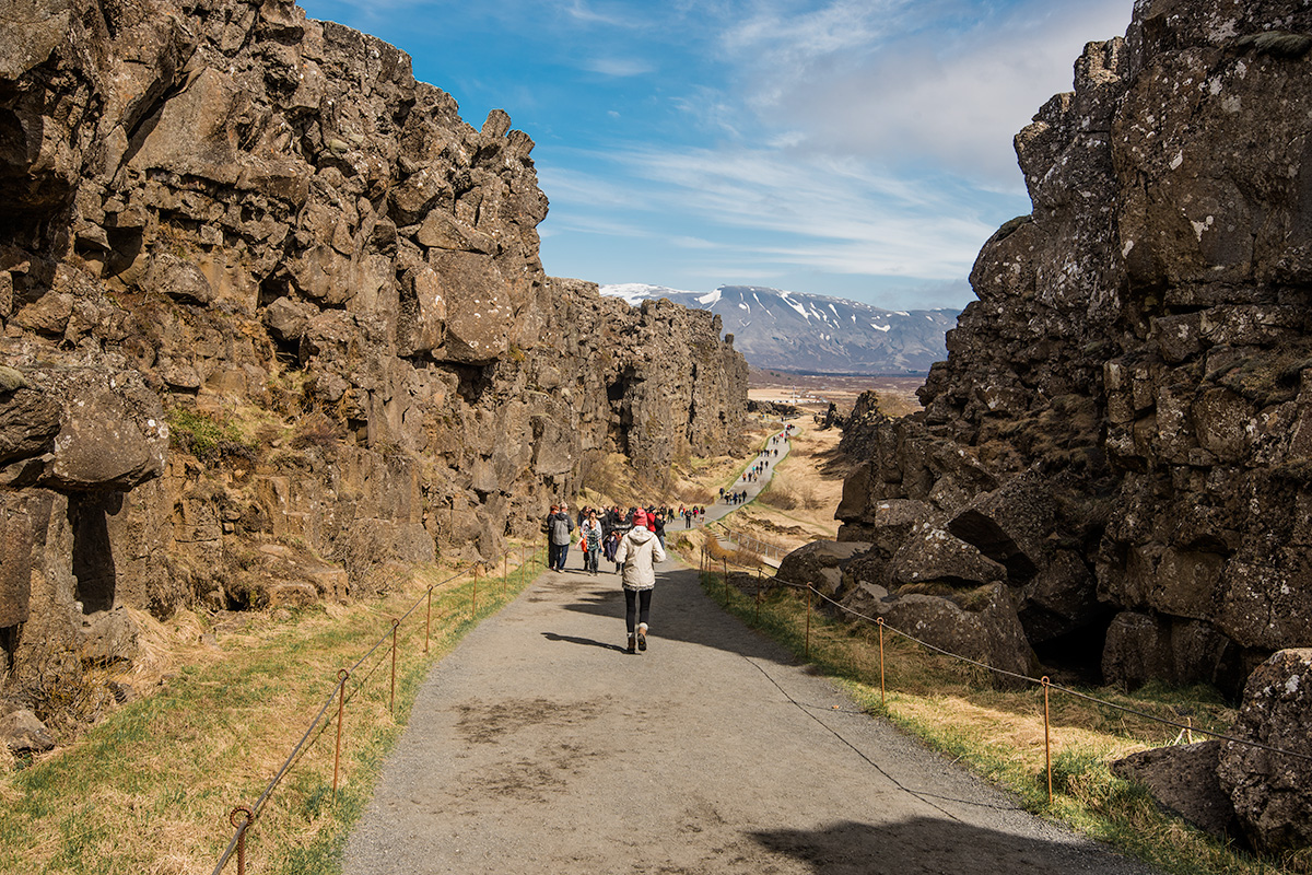 Almannagjá at Þingvellir National Park