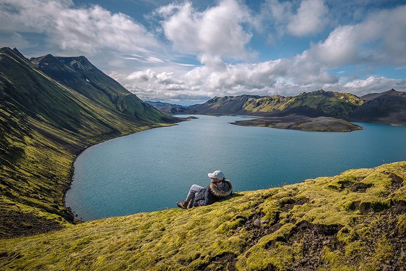 Langisjor lake in Icelandic highland is open during summer