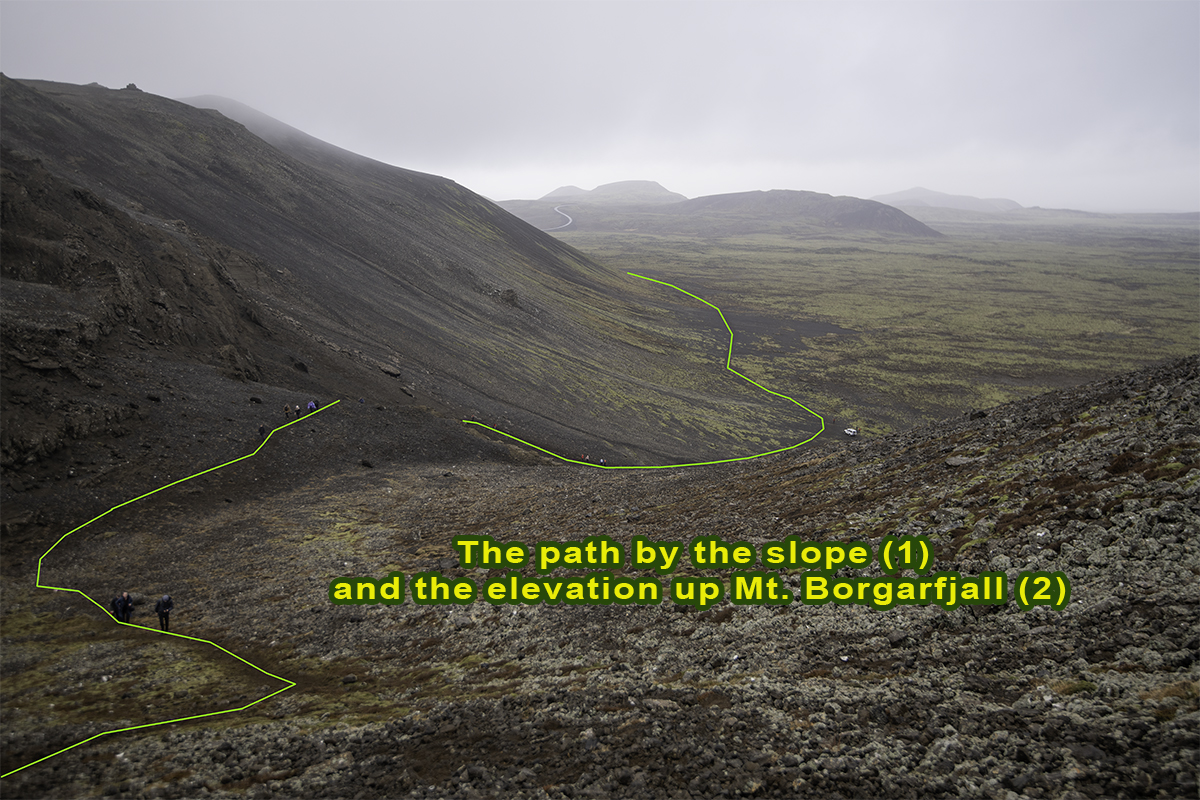 The first elevation at Borgarfjall