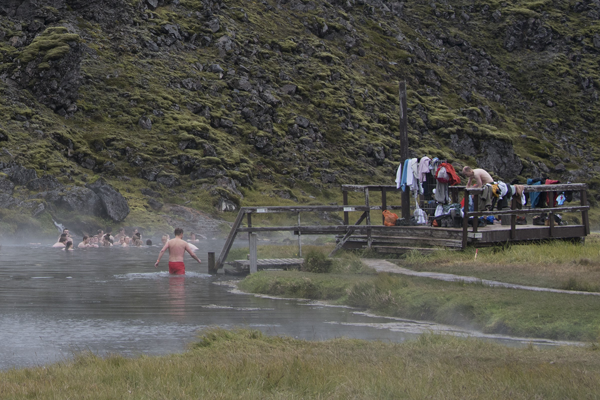 The geothermal natural pool has always been one of the major attractions in Landmannalaugar