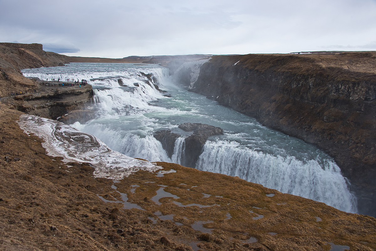 Gullfoss is one of the best known landmarks and attractions in Iceland