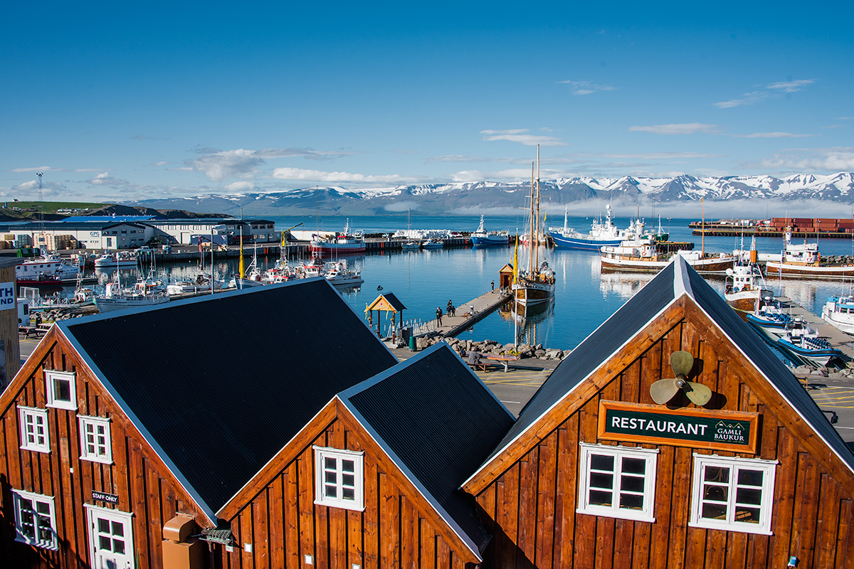 Accommodation and hotels in towns and villages in Iceland