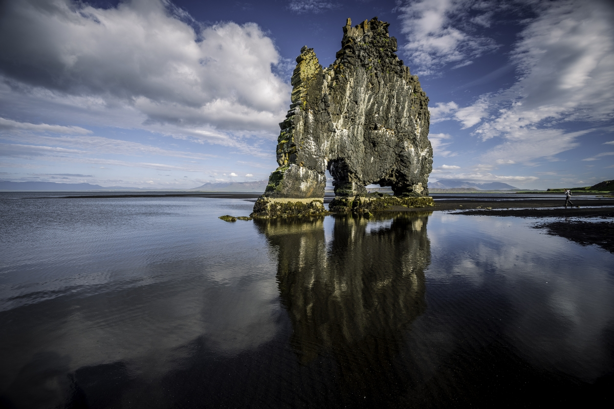 Hvítserkur sea stack near Vatnsnes Peninsula