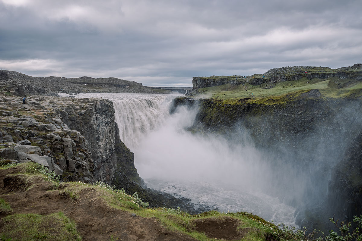 Dettifoss waterfall is one of the largest in Europe