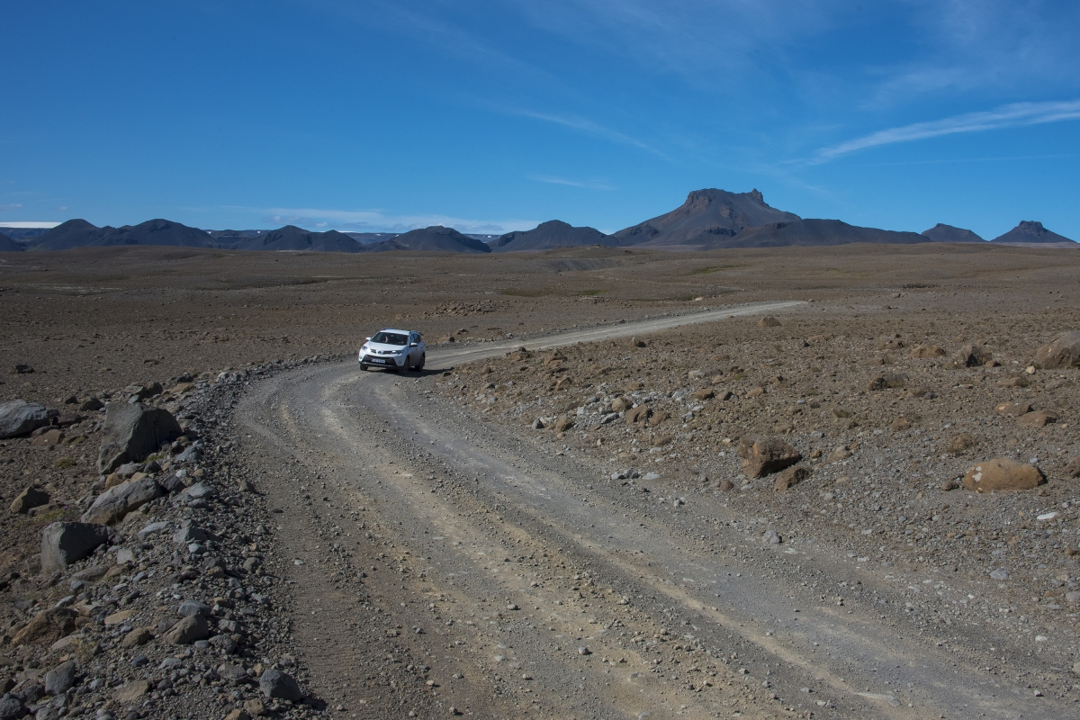 Many roads you travel in Iceland are gravel roads