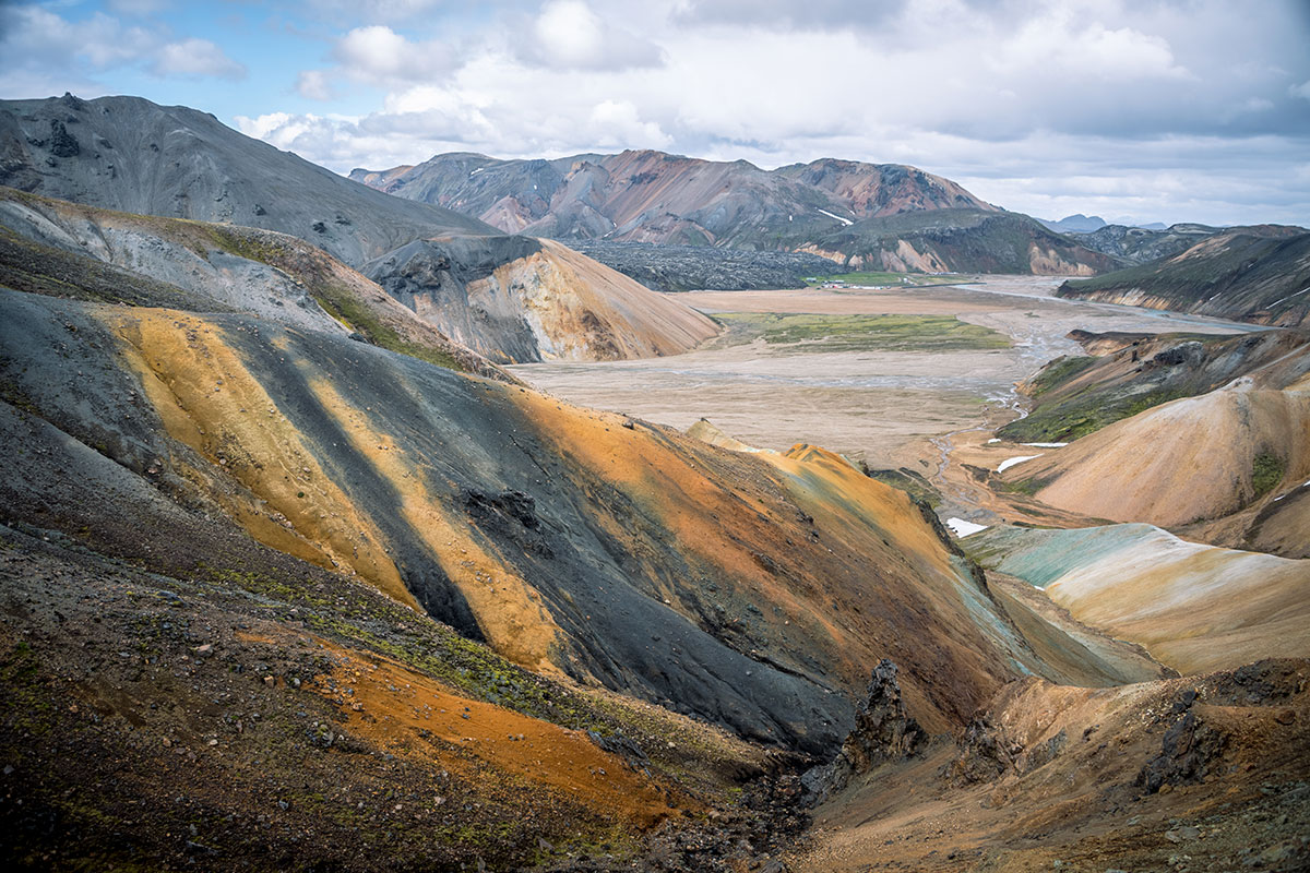 Landmannalaugar rhyolite mountains and geothermal pool