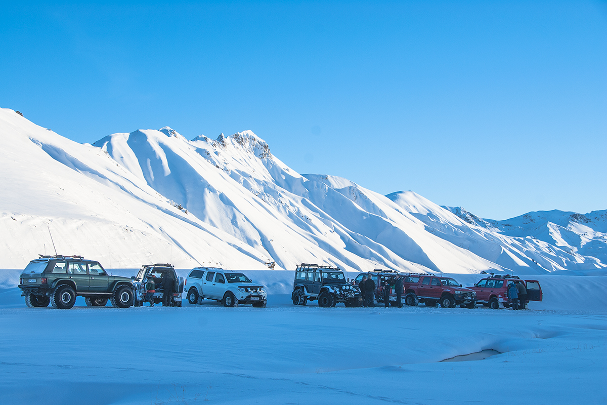 Landmannalaugar in winter is only for those who are interested in winter sport and highly modified 4X4 vehicles