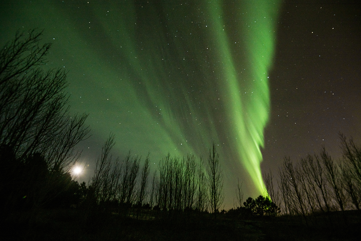 A background and foreground is something to think about when photographing Aurora Boreali
