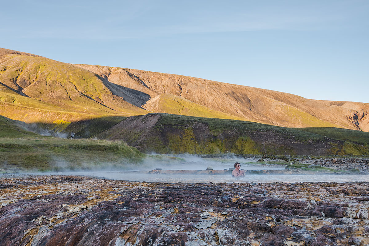 Strútslaug is the most remote geothermal pool in Iceland