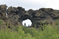 It is a very impressive sight to walk in Dimmuborgir