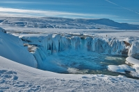 Goðafoss during winter
