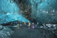 How cool is a selfie inside the spectacular formation of a blue ice cave?