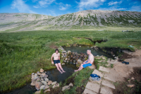 One of the advantages driving the Westfjords in Iceland are the geothermal pools