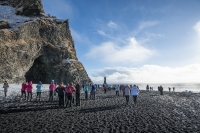 When you enter the beach, you will encounter one of the most spectacular basalt column formations in Iceland right in front of you