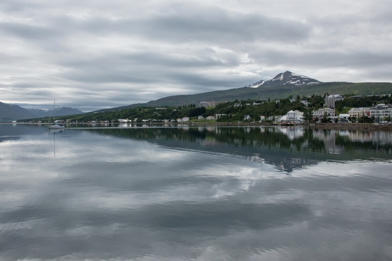 Akureyri in the Northern Region in Iceland is a beautiful town