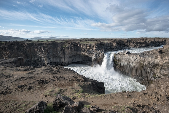 Yet another stunning waterfall in Iceland, Aldeyjarfoss.
