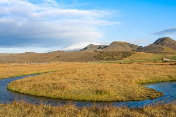 The mountain Hekla is an active volcano