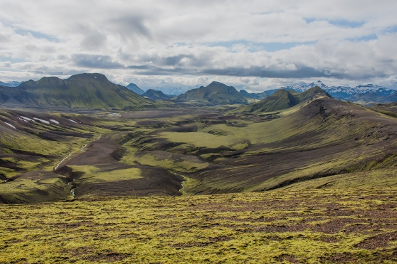 The Icelandic landscape in the Highland