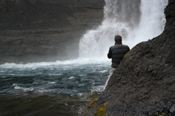 When you have reached the waterfall you can walk/climb to see the pool in which the water falls down.