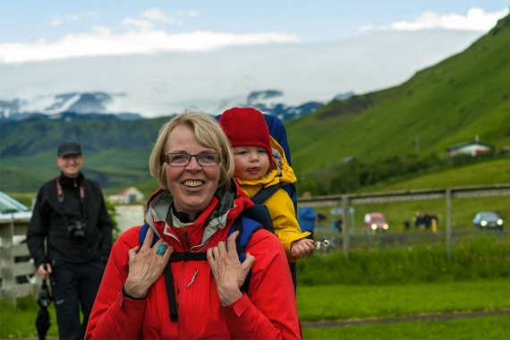 Guðrún now a grandmother herself,  visits the Álftaver and surrounding areas at least once a year .  Photo: Örn Stefánsson