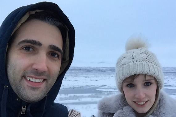 Omid Pakan and Sophie Camp