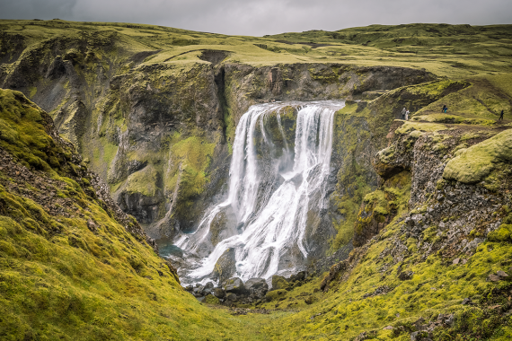 Fagrifoss is an impressive waterfall although not a mainstream tourist attraction in Iceland.