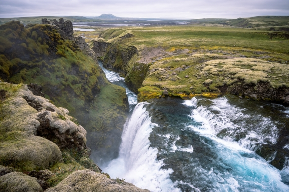 Silfurfoss or Silver waterfall is a reference to the mighty Gullfoss or Gold waterfall as many visitors have felt that there is a certain resemblance between the two.