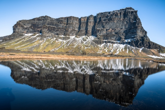The mountain Lómagnúpur is among the most photographed mountains and natural wonders in Icelandic Landscape.