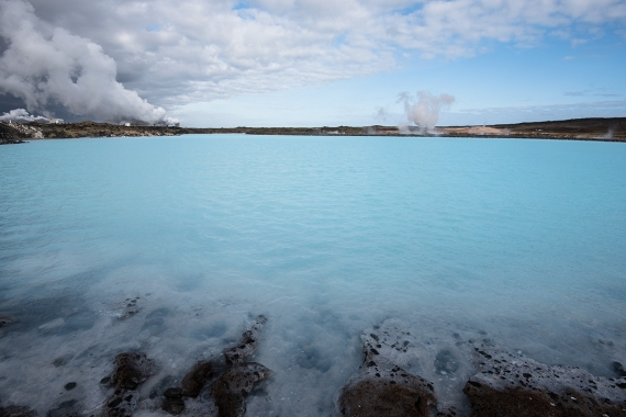 Gunnuhver is a highly active geothermal area of mud pools and steam vents on the Reykjanes peninsula