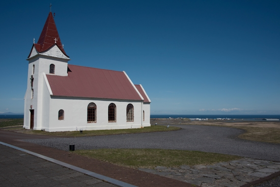 The Church at Ingjaldshóll stands between the two villages.