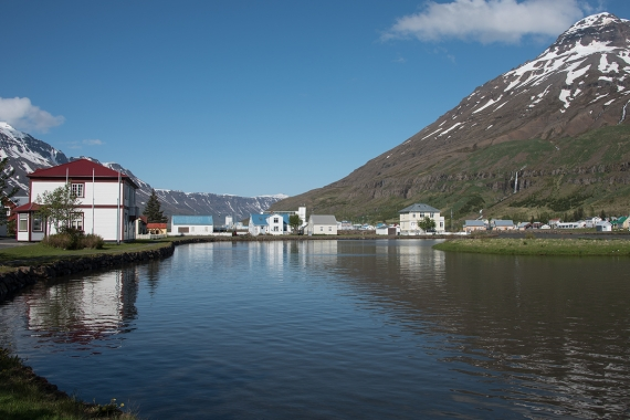 Seyðisfjörður is a small town in the Eastern Region in Iceland